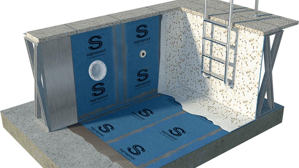 Como instalar o mosaico sobre piscinas de aço galvanizado