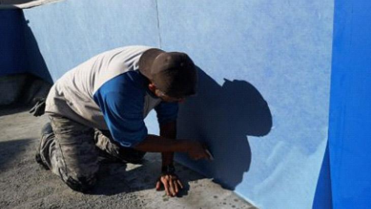 Como instalar o mosaico sobre aço galvanizado