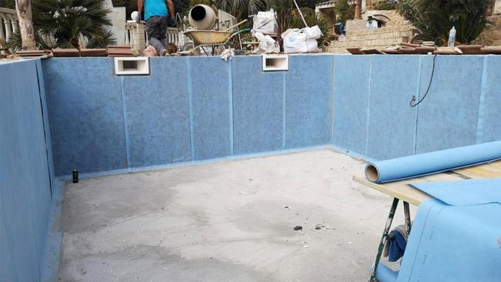 Mosaikoa poliestirenozko igerilekuetan instalatzea