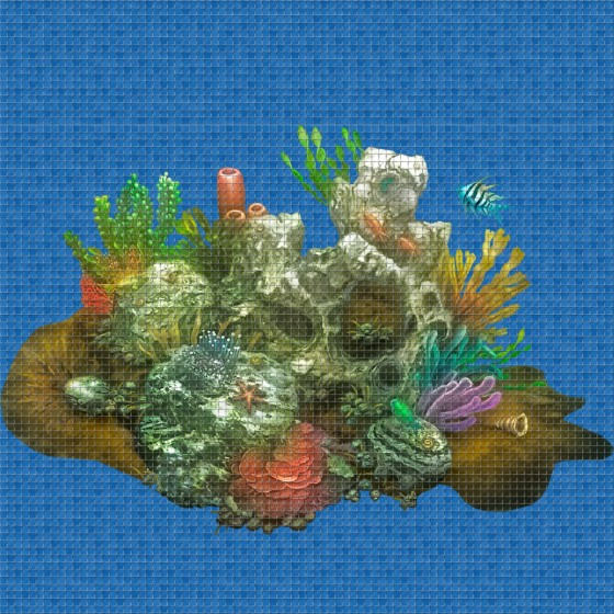 Digital printing image Aquarium in Mosaic Tiles - Ezarri