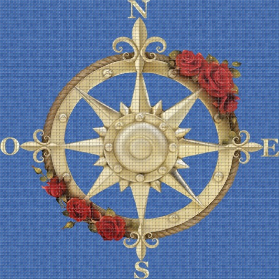 Digital printing image Compass in Mosaic Tile - Ezarri