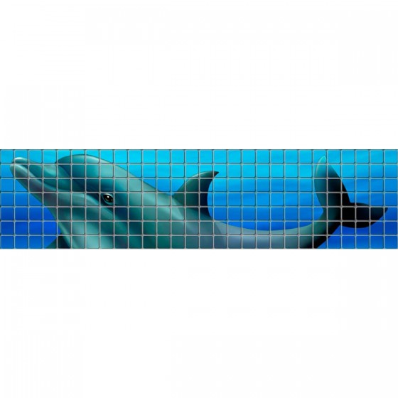 Digital printing image Dolphin Border in Mosaic Tile - Ezarri