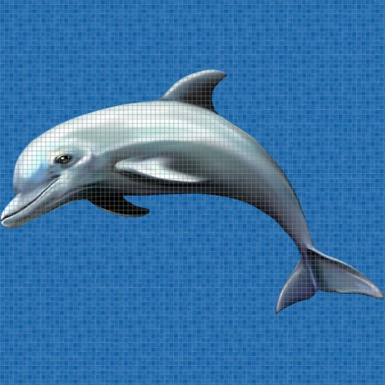 Digital printing image Dolphin in Mosaic Tile - Ezarri