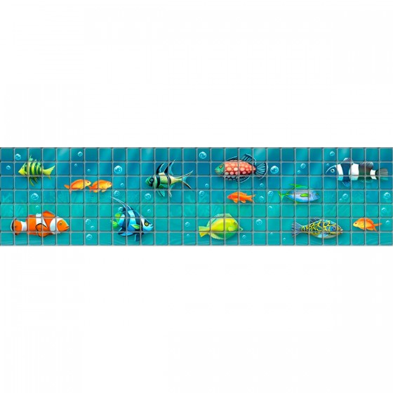 Digital printing image Fish Border 1 in mosaic tile - Ezarri