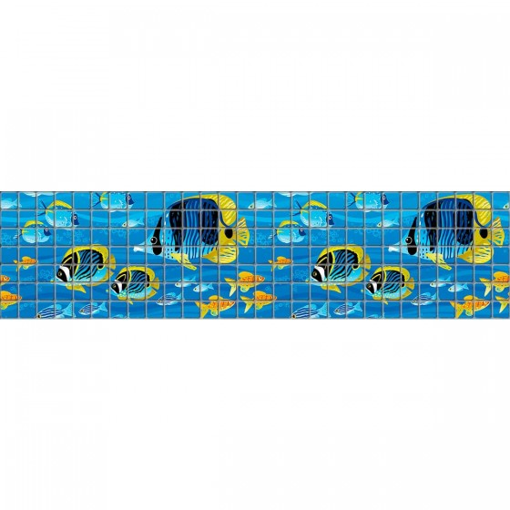 Digital printing image Fish Border 2 in mosaic tile - Ezarri