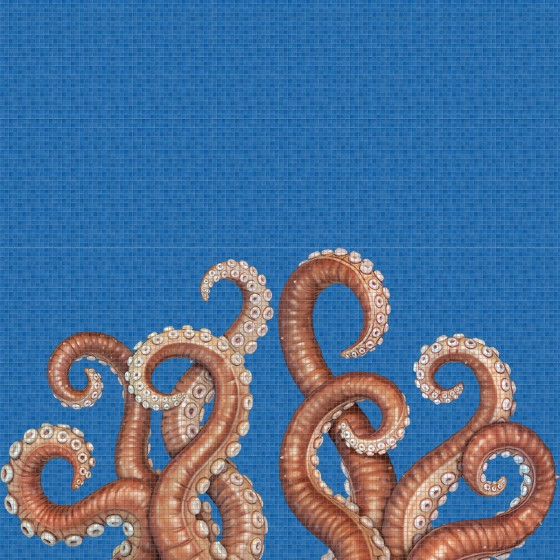 Digital printing image Octopus in Mosaic Tile - Ezarri