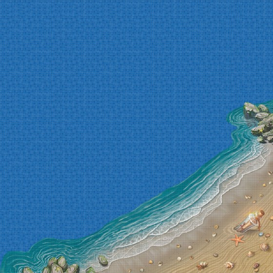 Dibujo en impresión digital The Beach en Mosaico - Ezarri