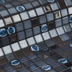 Mosaic Tile Topping Roses - Ezarri