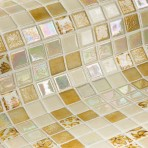 Mosaic Tile Topping Leaves - Ezarri