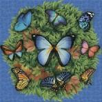 Dibujo en impresión digital Butterflies en Mosaico - Ezarri