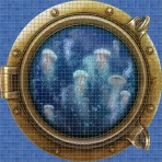 Dibujo en impresión digital Jellyfish en Mosaico - Ezarri