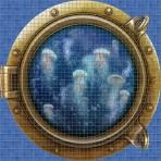 Dessin en impression numérique Jellyfish - Ezarri