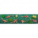 Dibujo en impresión digital Koi Fish Border  en Mosaico - Ezarri