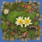 Digital printing image Koi Fish in Mosaic Tile - Ezarri