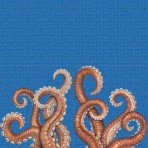 Dibujo en impresión digital Octopus en Mosaico - Ezarri