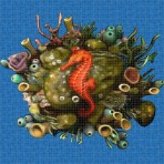 Dibujo en impresión digital Sea Horse en Mosaico - Ezarri