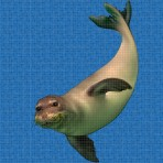 Dibujo en impresión digital Seal en Mosaico - Ezarri
