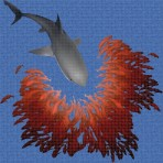 Digital printing image Shark in Mosaic Tile - Ezarri