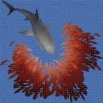 Dibujo en impresión digital Shark en Mosaico - Ezarri