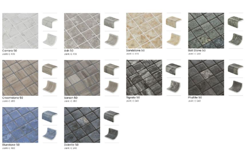 La Collection 50 d'Ezarri mise sur la mosaïque de 50 millimètres