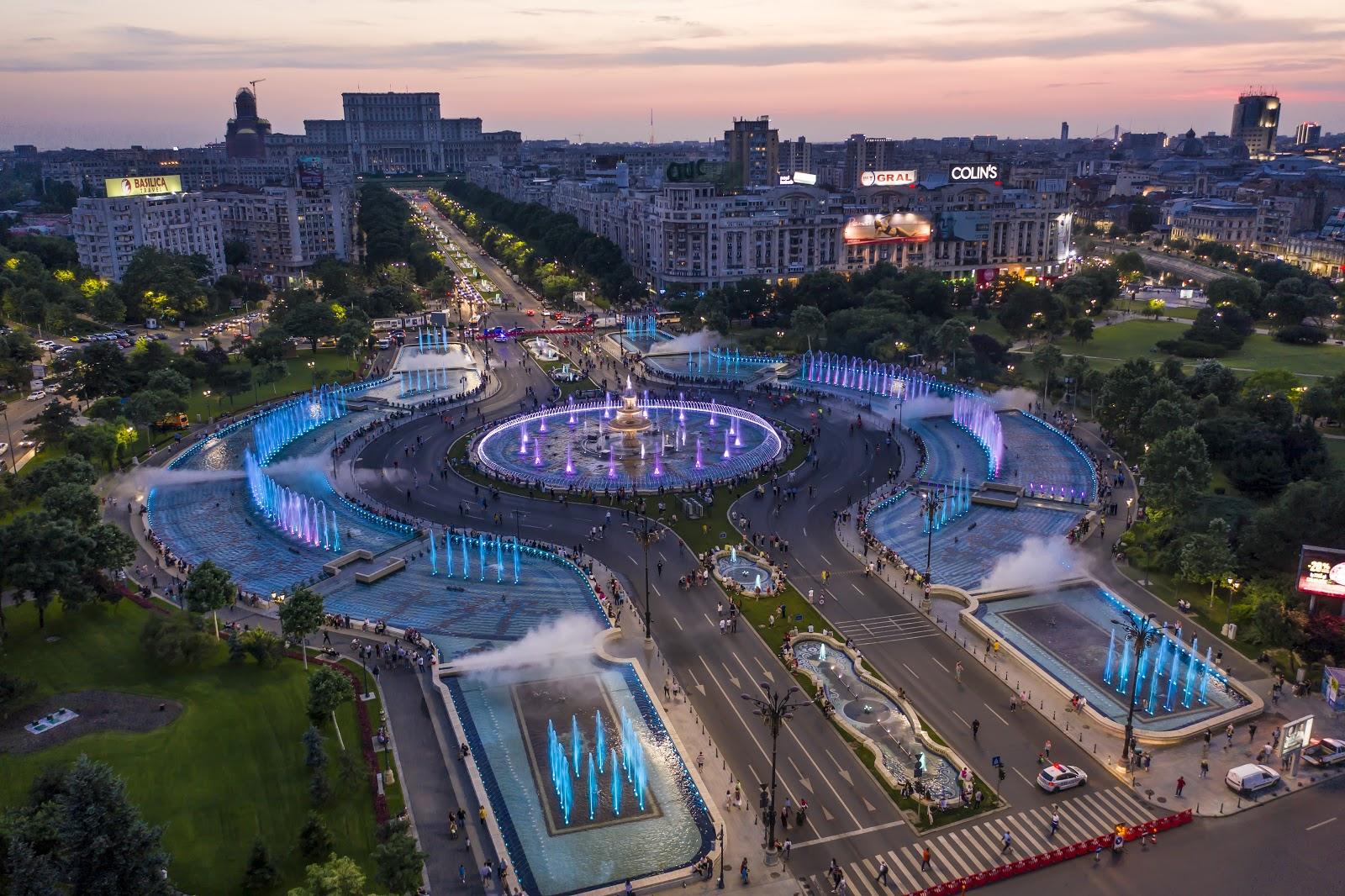 Unirii Square - Bucharest, Romania