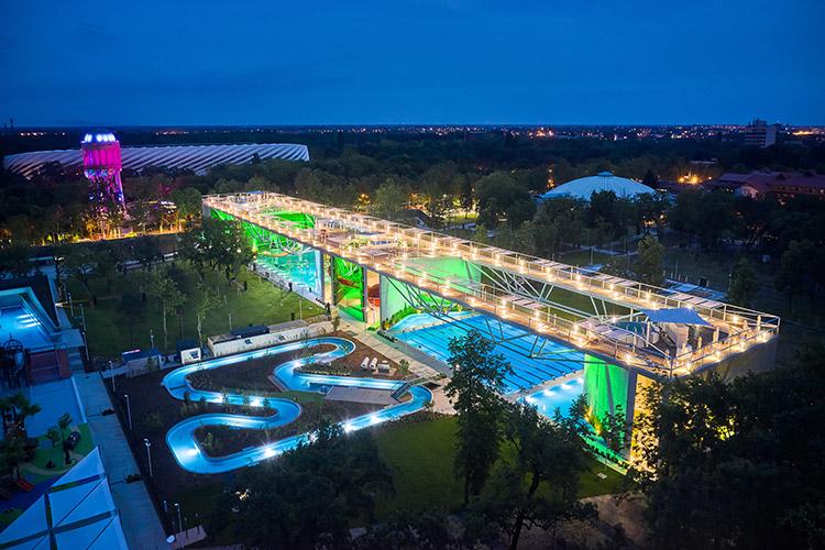 Ezarri shines in the AQUATICUM Water Park, a new symbol of the city of Debrecen