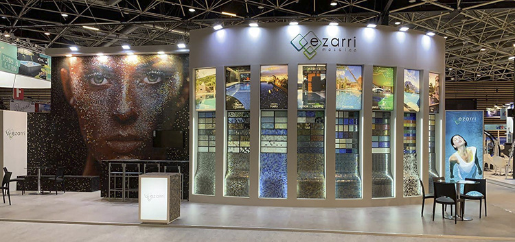 Ezarri at Piscine Global Europe 2018 in Lyon with all our colours and formats