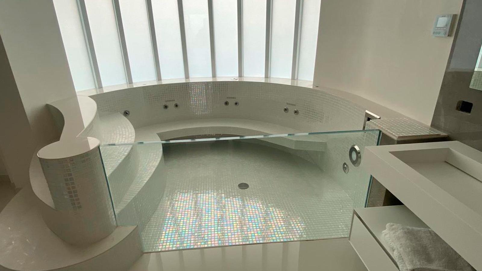 baño mosaico de vidrio gresite