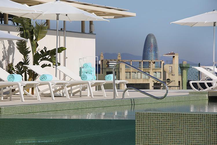 An Ezarri pool overlooking Barcelona