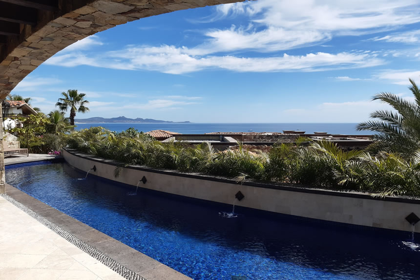 Baja California, porches, the Pacific, and an Ezarri glass tile pool