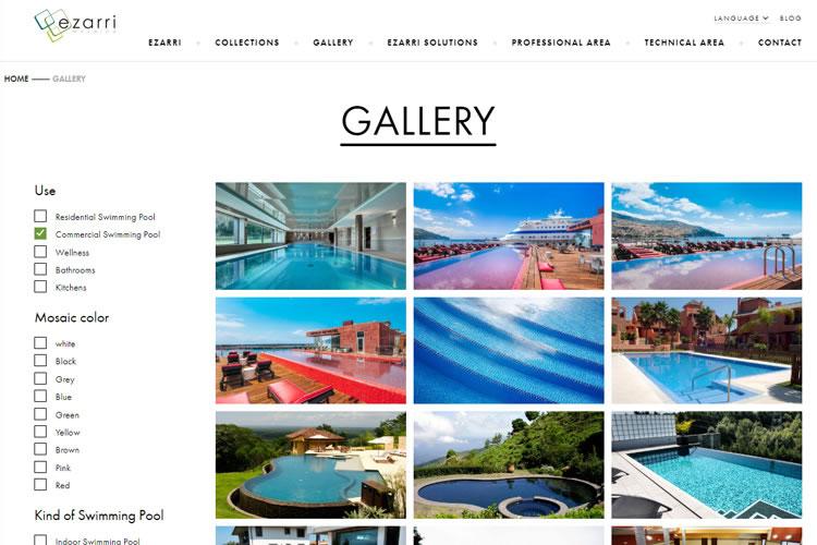 New Features on Ezarri´s Website: Image Galleries