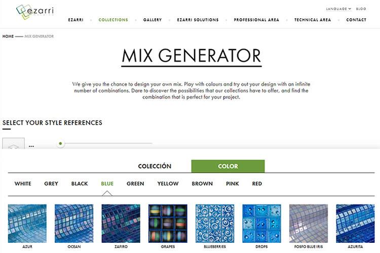 Generador de Mezclas por colores