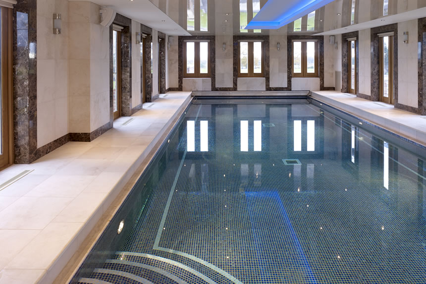 How do chemical products affect glass mosaic pool tiles?