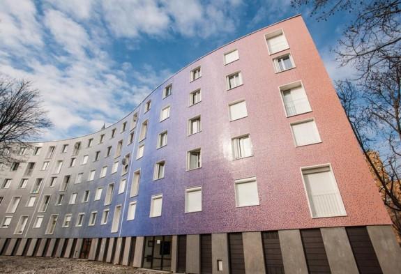 Mosaico Fachada Edificio Serpentin Pantin París Francia - Ezarri